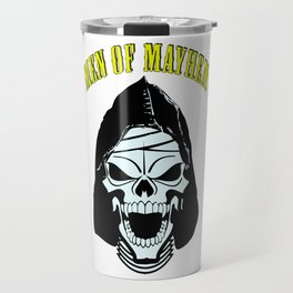 Men of Mayhem Zombie Skull Travel Mug