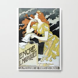 Poster for Marquet brand writing ink Metal Print