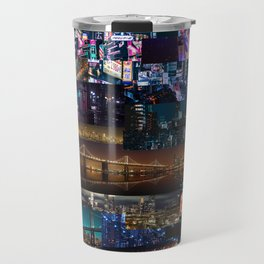 Cities of the world at night Travel Mug