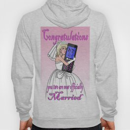 A blonde woman married to her mob. phone Hoody