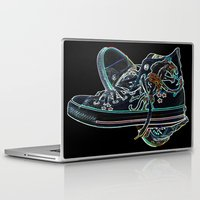 sneakers Laptop & iPad Skins featuring My Sneakers by Dawn East Sider