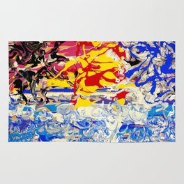 Abstract painting  - Sunset over The Sea Rug