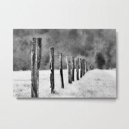 Follow the Fenceline Metal Print