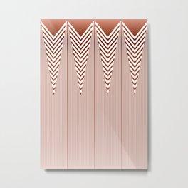 Art Deco Geometric Arrowhead Dusty Peach Design Metal Print