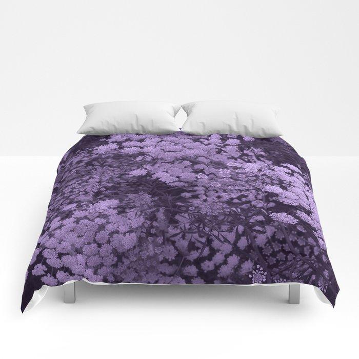 Purple Laceflower Comforters