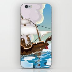 Old Sail ship in the Arctic Ocean iPhone & iPod Skin