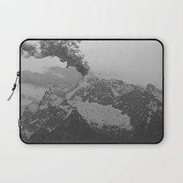 Volcano black and white Laptop Sleeve