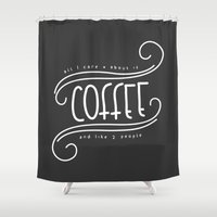 coffee Shower Curtains featuring Coffee by Janja Primozic