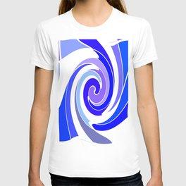 Shades of Blue Swirling  Modern Art Abstract  T-shirt