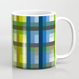 colorful striking retro grid pattern Nis Coffee Mug