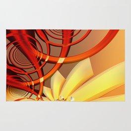 Circling 2 Abstract Fractal Art Rug
