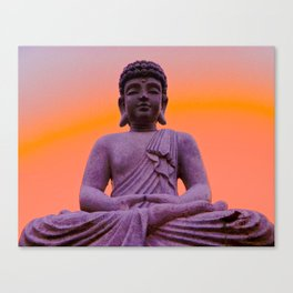 Sundown Buddha Canvas Print