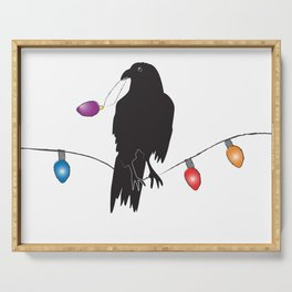 Holiday Crow 3 Serving Tray