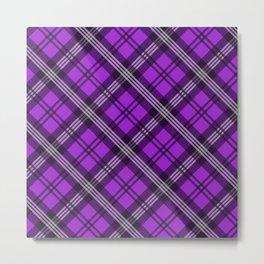 Scottish Plaid-Purple Metal Print