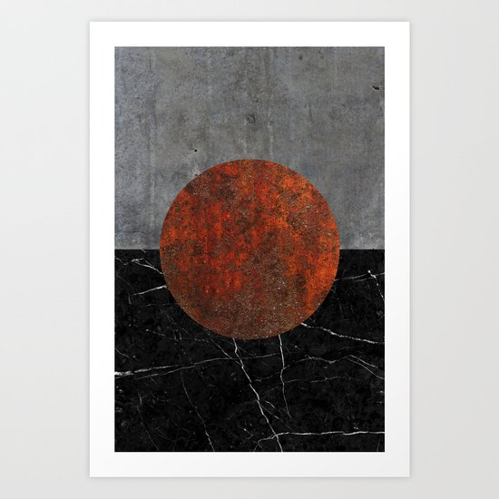 Abstract - Marble, Concrete, and Rusted Iron II Art Print