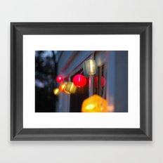 Paper Lanterns Framed Art Print