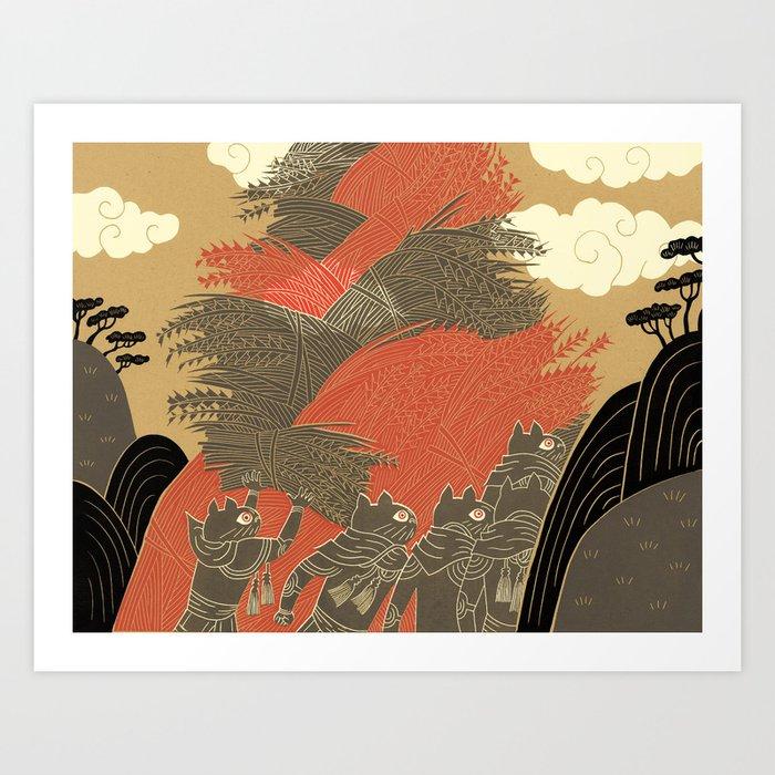 Zodiac Harvest Art Print