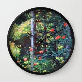 Rose Trellis, Oil Wall Clock