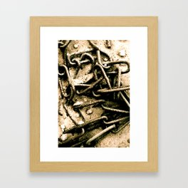 Chains in the garden sand Framed Art Print
