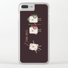 Turn Back Clear iPhone Case
