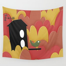 Birdhouse n.2 Wall Tapestry