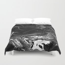 // MARBLED BLACK // Duvet Cover