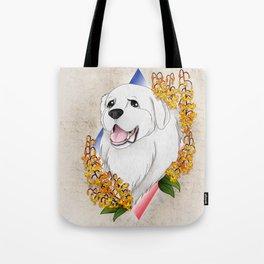 Great Pyrenees Pet Portrait Tote Bag