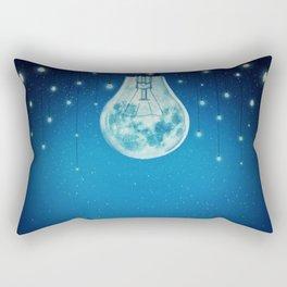 bulb moon night Rectangular Pillow