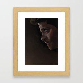 Frowny Cassie Framed Art Print