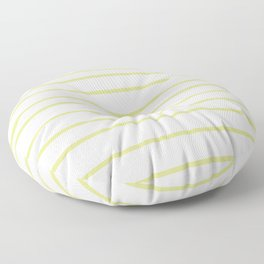 VA Lime Green - Lime Mousse - Bright Cactus Green - Celery Hand Drawn Horizontal Lines on White Floor Pillow