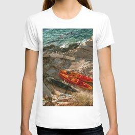 red kayak T-shirt