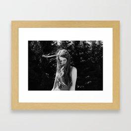 Girl with flaxen hair Framed Art Print