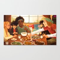 big hero 6 Canvas Prints featuring Big Hero 6 by kirza