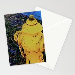 The yellow helper Stationery Cards