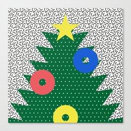 Memphis Christmas Tree Canvas Print