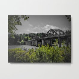 River Side Bridge Metal Print
