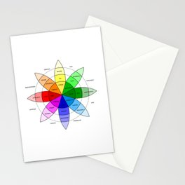 Love and Emotion Valentines Color Wheel Stationery Cards