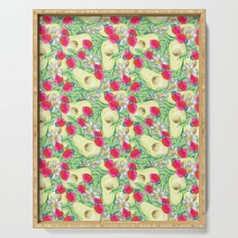 avocado and strawberry pattern Serving Tray