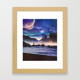 Desolate Coast Framed Art Print