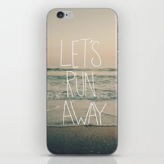 Let's Run Away by Laura Ruth and Leah Flores iPhone & iPod Skin