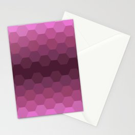 Purple Honeycombs Stationery Cards