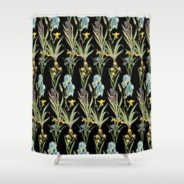 Irises 2 | Iris Flowers | Vintage Floral Pattern | Flower Patterns | Shower Curtain