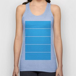 Aqua Teal- Maritime Aqua Teal Stripes Pattern 1 - Mix & Match Unisex Tank Top