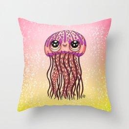 Happy Jellyfish  Throw Pillow