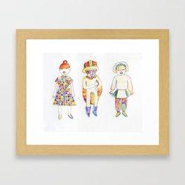 Shimokitazawa Trio Framed Art Print