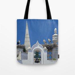 Arco da Vila storks Tote Bag