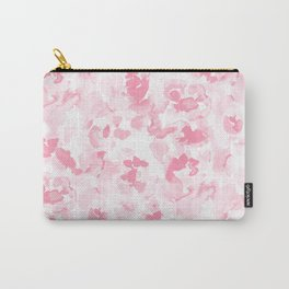 Abstract Flora Millennial Pink Carry-All Pouch