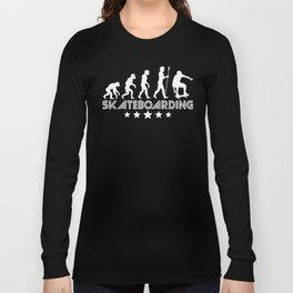 Retro Skateboarding Evolution Long Sleeve T-shirt