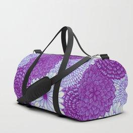 Watercolor Bouquet - Violet Duffle Bag