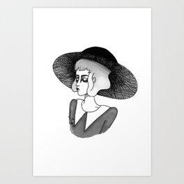 spooky girl Art Print